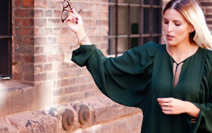 green CHLOÉ dress X ZOE
