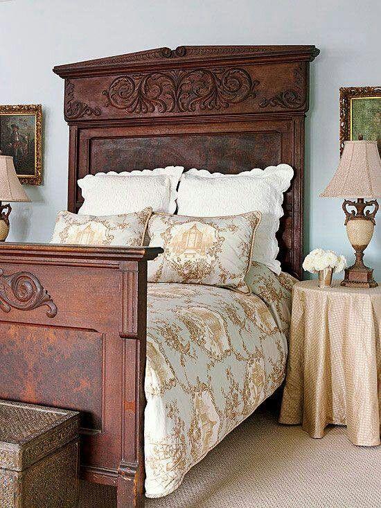 Love the gold cover [ Wainscotingamerica.com ] #bedroom #wainscoting #design