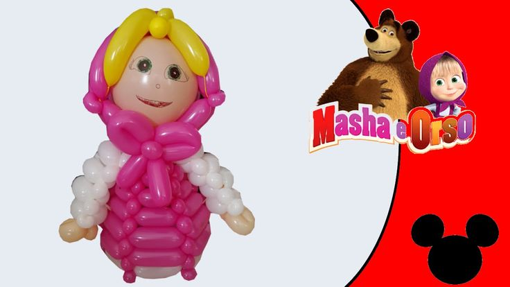 Video tutorial on how to make Masha and the Bear with balloons twisting #masha #mashabear #mashaandthebear