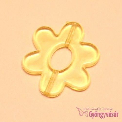Sárga gerbera - akril gyöngy • Gyöngyvásár.hu