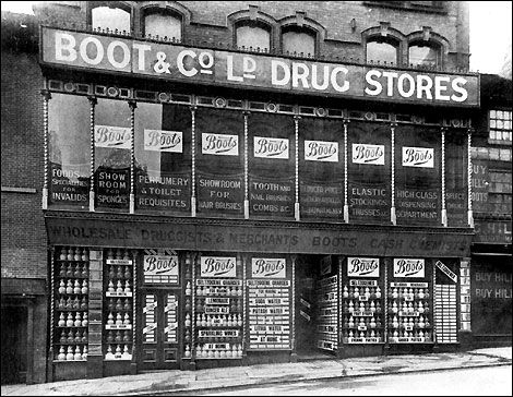 1849: the first Boots store was opened on Goose Gate, Nottingham (Photo: c.1885).
