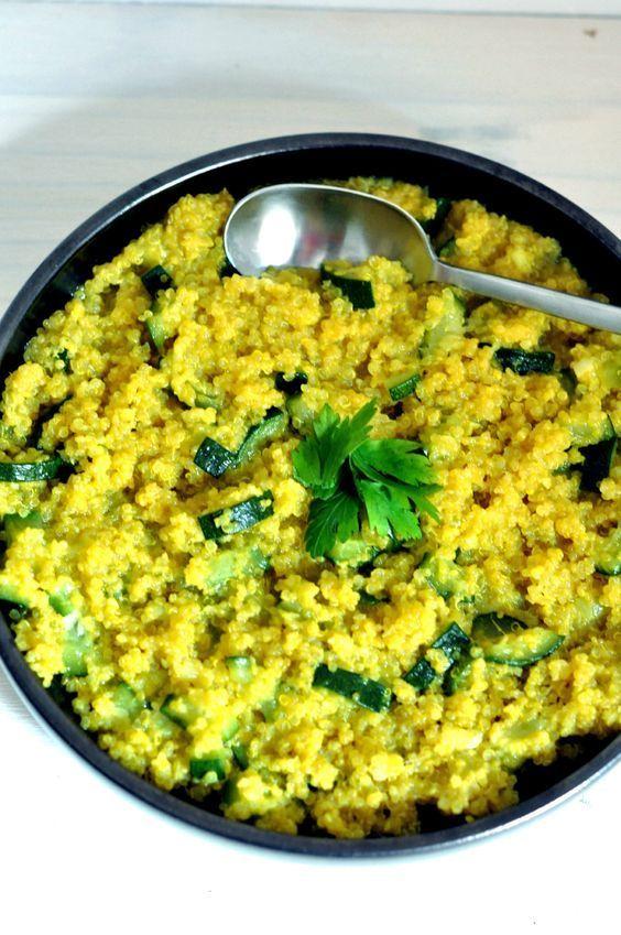 Risotto de quinoa aux courgettes