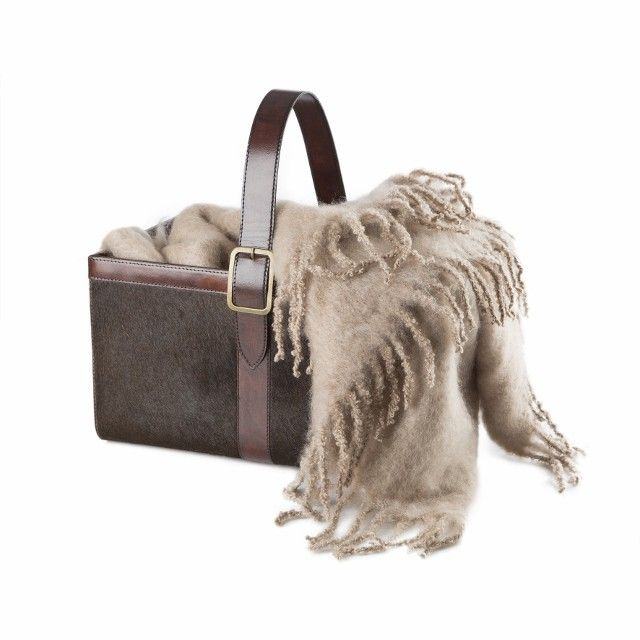 Balmuir Kid mohair throw, taupe - I want this for the bedroom! Super cozy