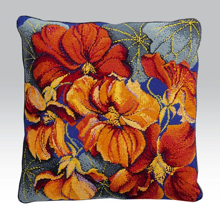 Nasturtiums Cushion - Ehrman Tapestry