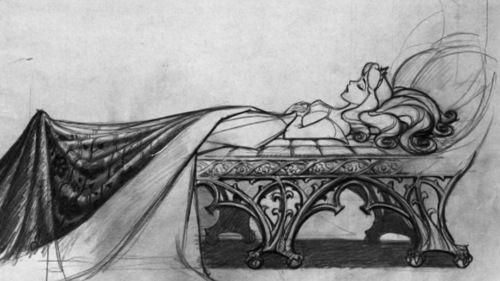 Concept art for Disney's Sleeping Beauty