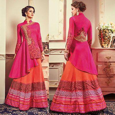 Diseñador indio paquistaní Salwar Kameez Bollywood Étnico Bordado traje de boda