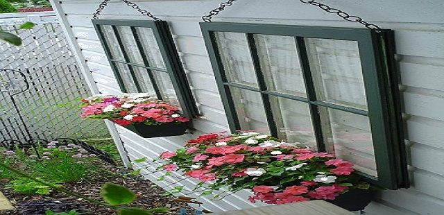 Wall Decorations Using Window Planters