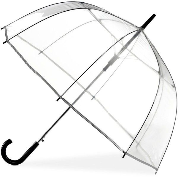 A little rain is no trouble at all when you're carrying this see-through bubble umbrella from ShedRain.  Macys.com polyvore.com