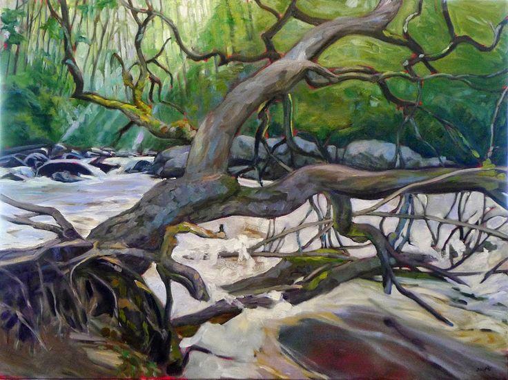 Dead Wood, 48X36, oil on linen, by Carol L. Douglas.