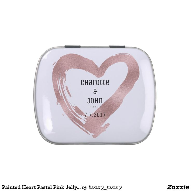 Painted Heart Pastel Pink Jelly Belly™ Candy Jelly Belly Candy Tins