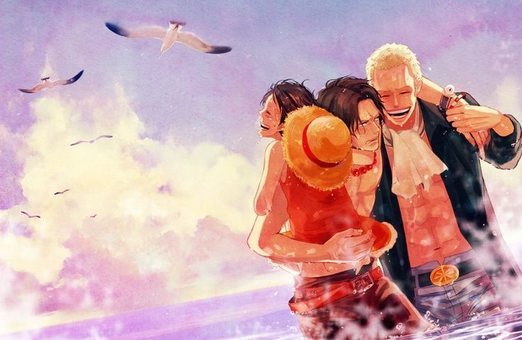 Brothers. #onepiece #luffy #ace #sabo