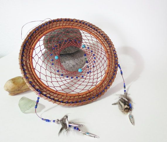 Small Dream catcher made from pine needles by TwistedandCoiled