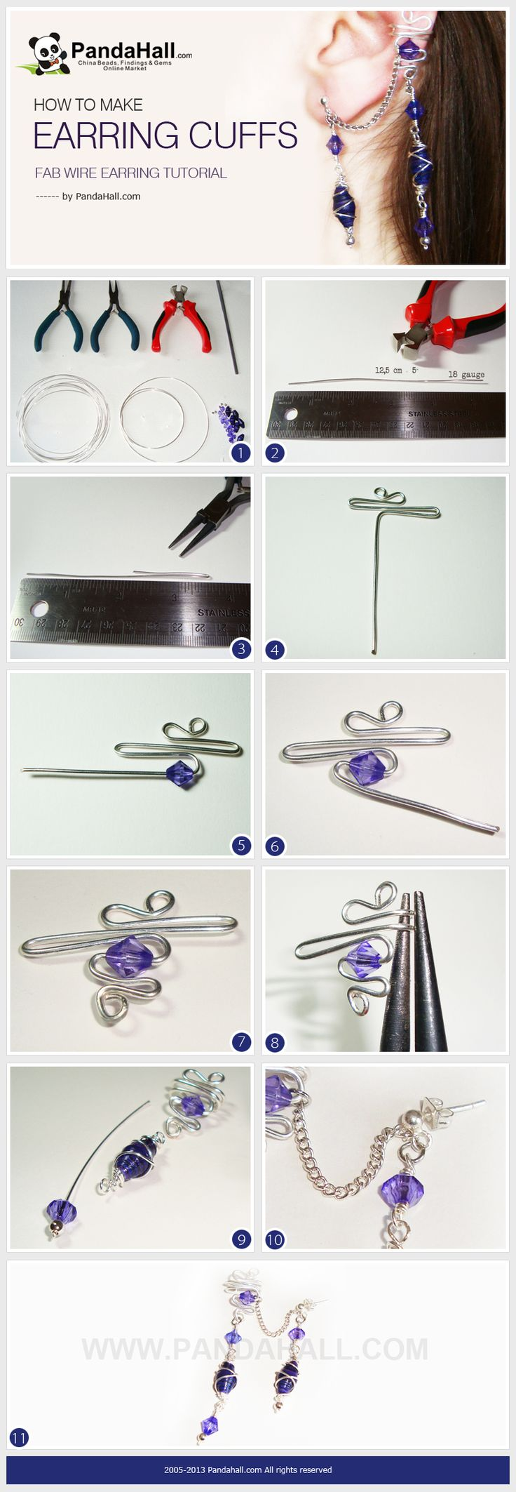 This wire earring tutorial is going to show you how to make earring cuffs just…                                                                                                                                                                                 More                                                                                                                                                                                 More
