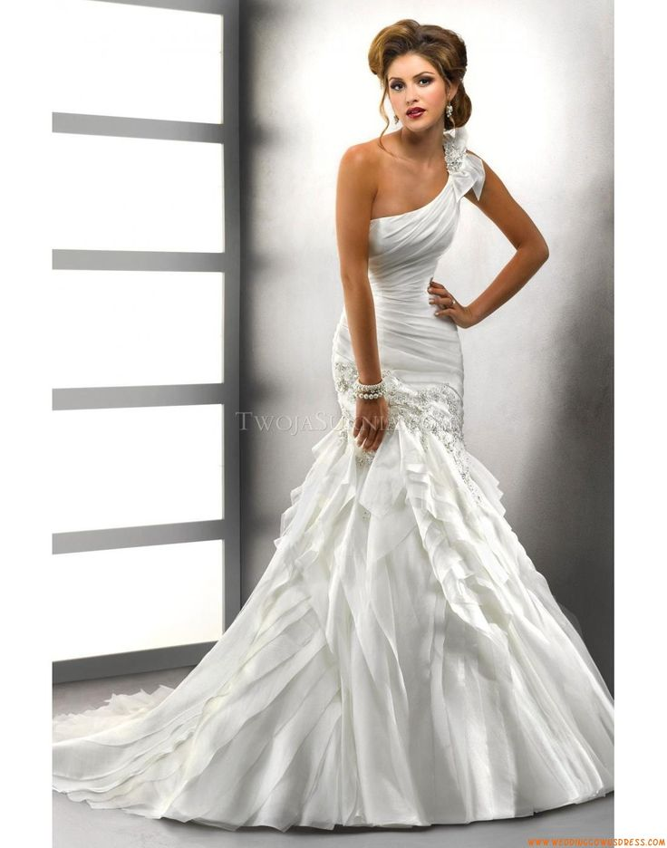 Beautiful 2013 Sottero And Midgley Dress Style Ashlyn Rose 71623 Featuring A One Shoulder Neckline Mermaid Skirt From BestBridalPrices