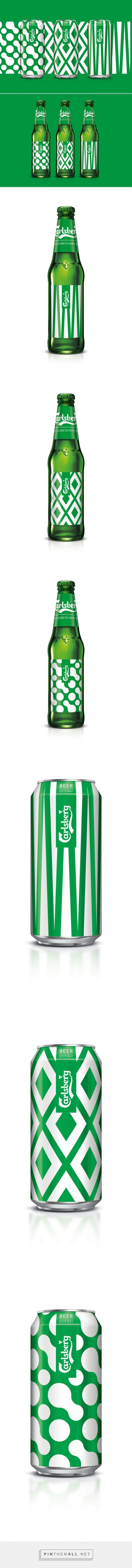 Carlsberg Limited Edition København Collection packaging design by Taxi Studio - http://www.packagingoftheworld.com/2017/01/carlsberg-limited-edition-kobenhavn.html #beer #packaging #can #bottle