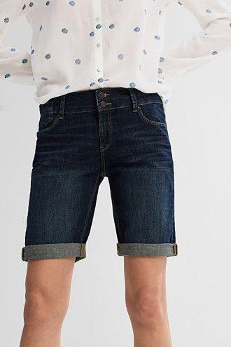 Esprit / Džínové strečové šortky s širokým pasem