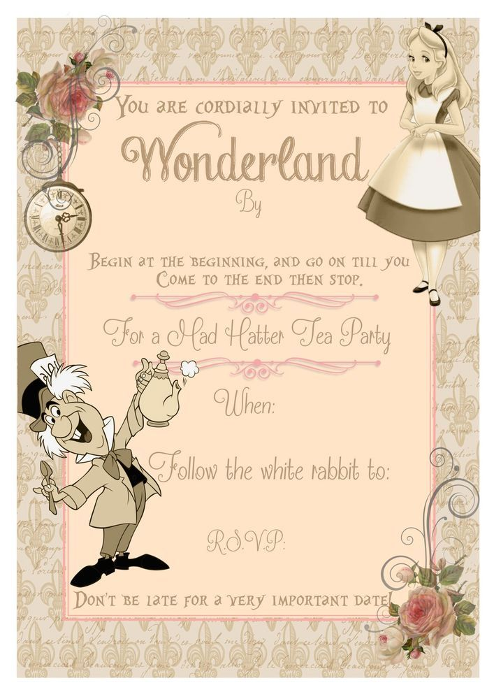 alice in wonderland tags template - 25 best ideas about snow white invitations on pinterest