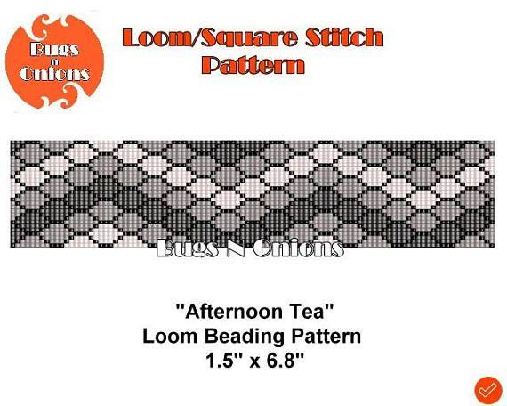 Loom Bead Afternoon Tea Loom or Square Stitch Bracelet