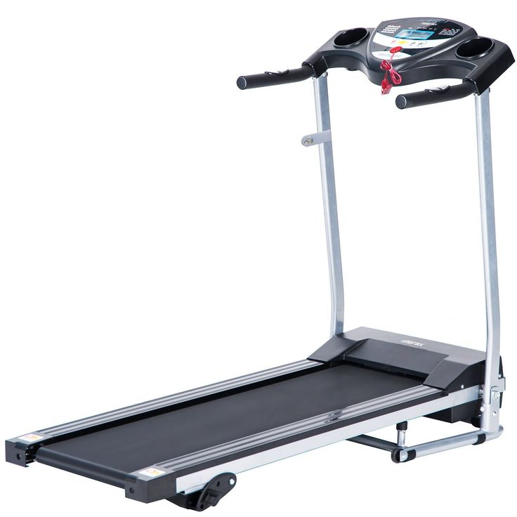 This Merax JK1603E Folding Electric Treadmill has a quiet motor and comes with 3 incline settings and 3 workout programs, as well as a decent LCD display and control panel.