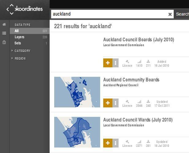 KOORDINATES - free open data