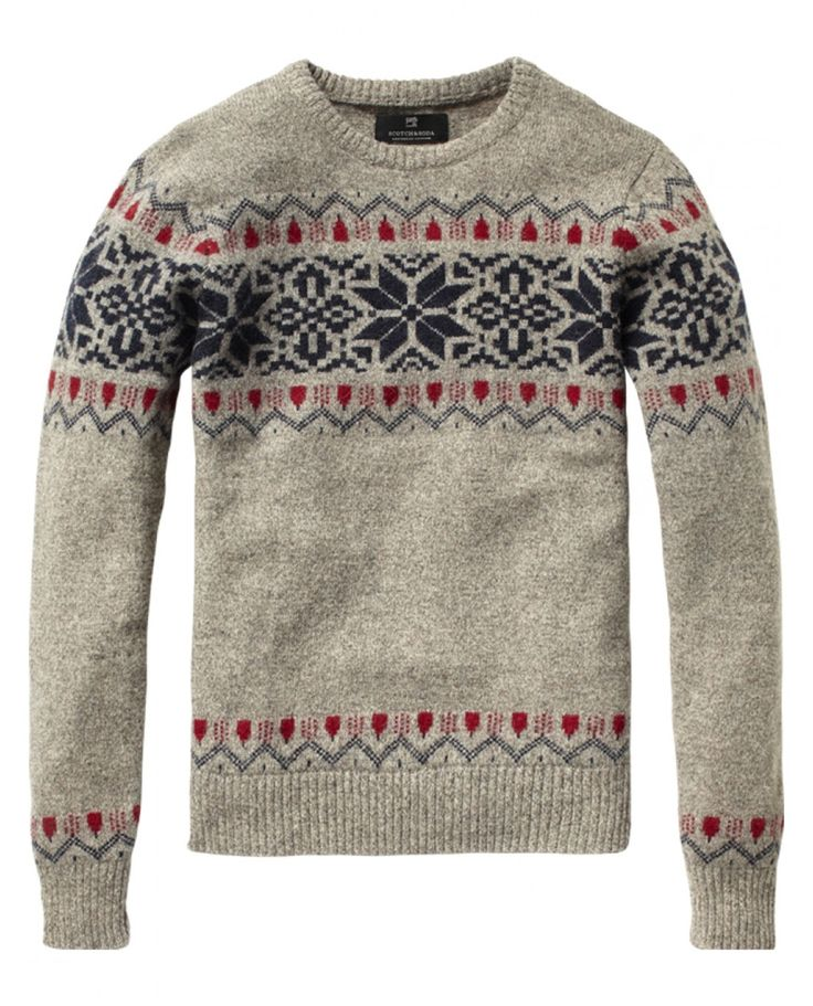 Christmas is calling :-) Fair isle crew neck pull- Scotch & Soda.