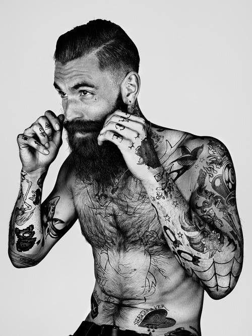 Tattooed Beard