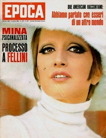 Mina Mazzini. Iconic cover from 1966