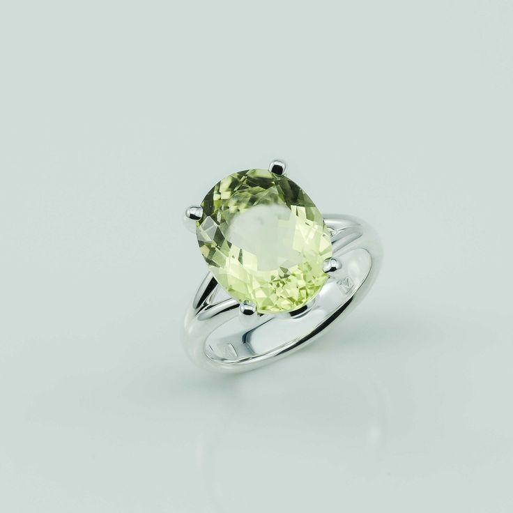 Citrine and Argentium Silver ring