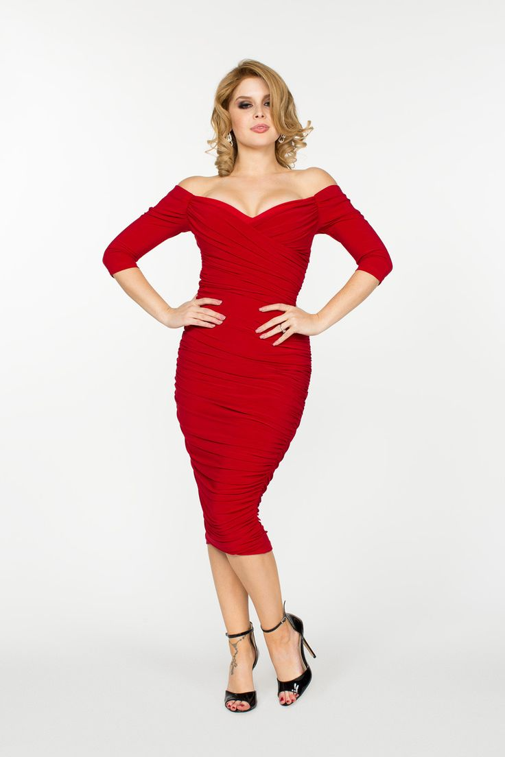Monica Vintage Dress in Red