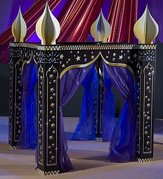Arabian Paradise Gazebo - Item # KSEARP - DIY Disney Inspired Reception - Use this item for your Cake or the Couples table.  [Aladdin] - note:  you will need creative help to put this item together.