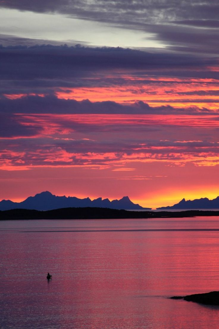 Midnight Sun - light all night! Norway