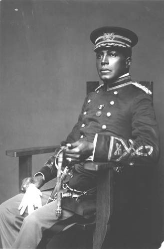 Lieutenant Colonel Charles Young. The first African American to attain the rank of Colonel in the United States Army and it's highest ranking African American until the day he died. A true Buffalo Soldier...