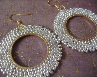 Gouden kralen hoepel oorbellen gouden godin zaad door WorkofHeart
