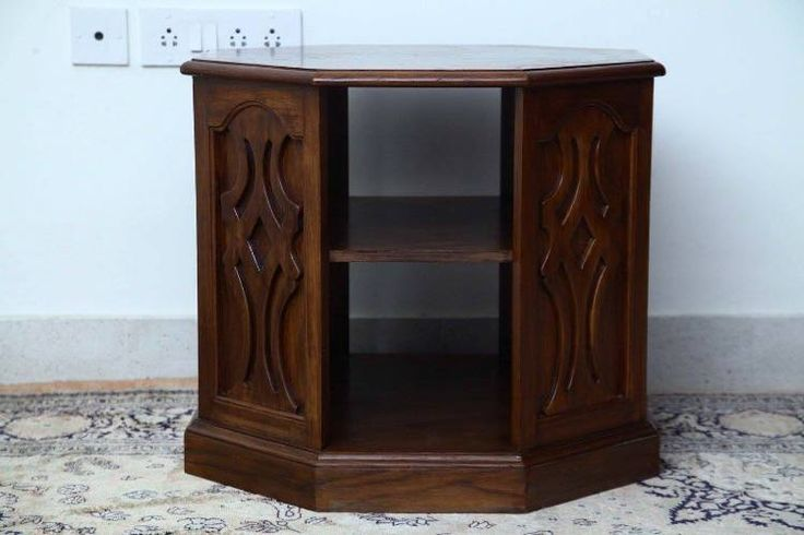 SHEFFIELD CHAIRSIDE TABLE - CBF011 An octagonal side #table with interesting panels, this is a #vintagefurniture with two shelves with identical space. Another highlight is the carved panels. ~~~~~~~~~~~~ Code CBF011 | Rs 45,000 Dimensions: W-25.5* H-22 Call +91 9600136668 | hello@envission.org Address & Directions: bit.ly/vintage-furniture-chennai