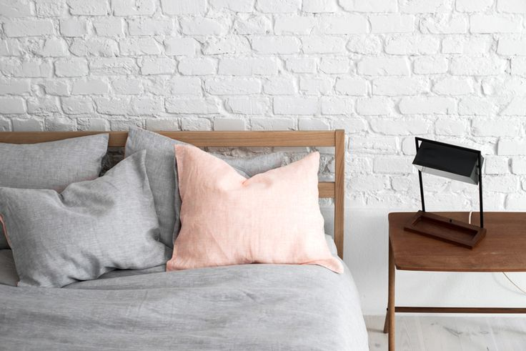 Lniana pościel | SZARA-PEACH | YELEN / Gray-peach bedding 100% linen work