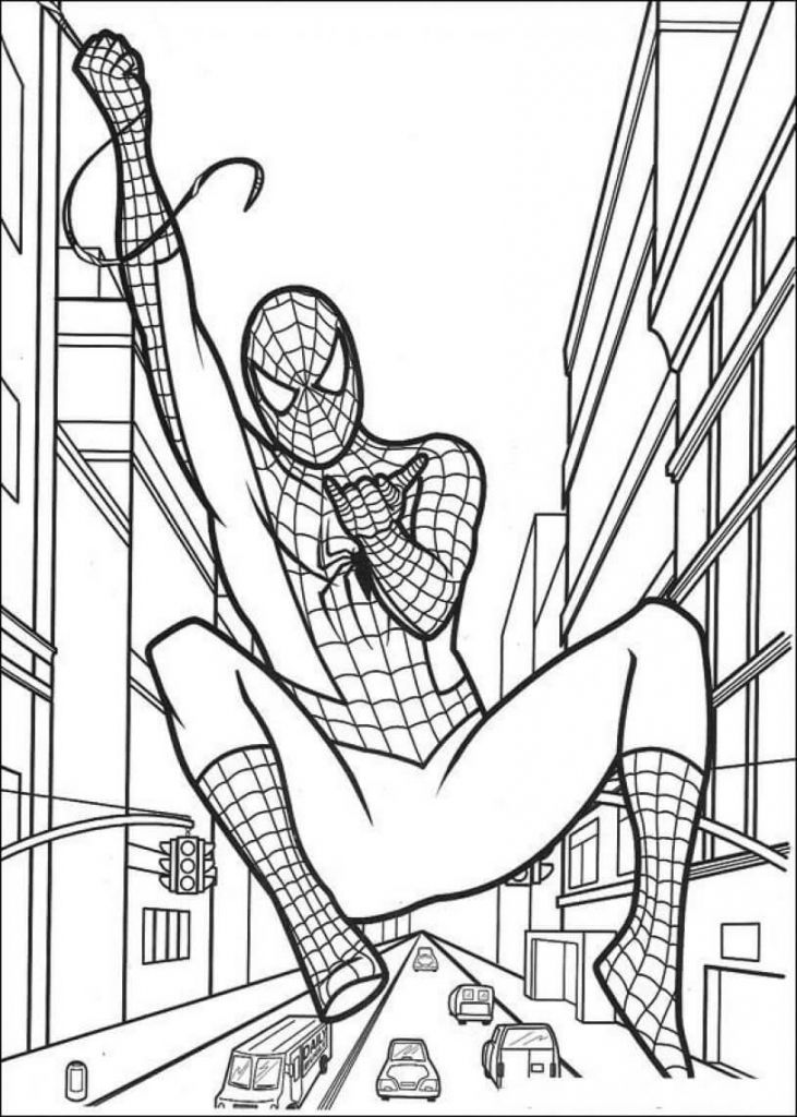 Spiderman Superhero Coloring Pages Superhero Coloring Pages Birthday Coloring Pages Spiderman Coloring
