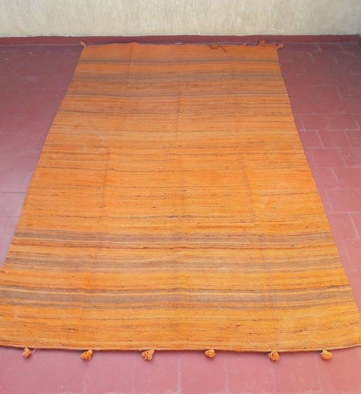 "old moroccan berber tribal handmade striped hanbal blanket rug carpet 9'8""x5'1  #Handmade #NorthAfrican"