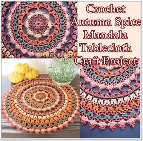 Crochet Autumn Spice Mandala Tablecloth Craft Project