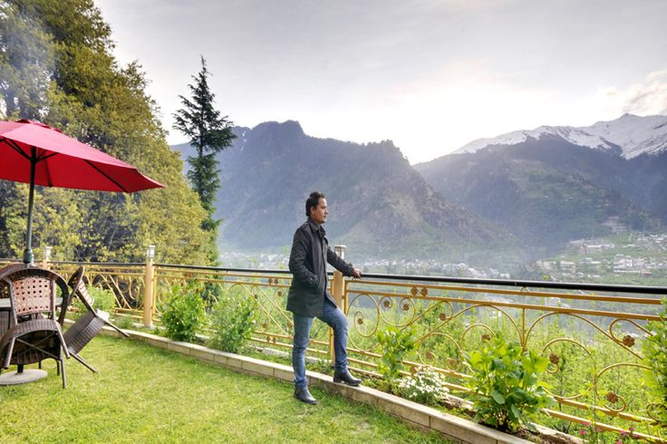 The beautiful view from Holiday #Cottage & Resorts #Manali