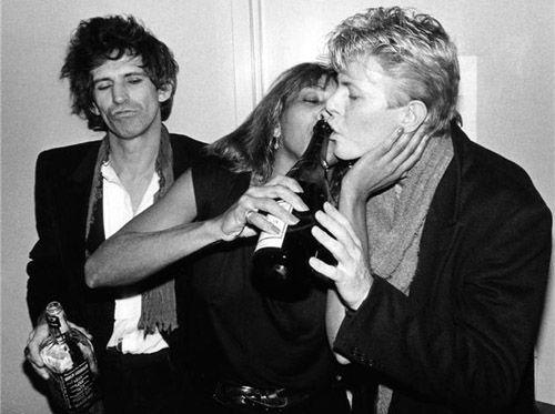 Keith Richards, Tina Turner y David Bowie