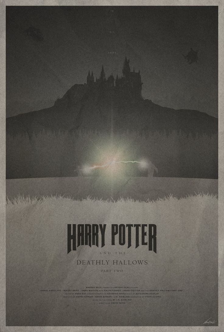 #7 - Harry Potter and the Deathly Hallows - Part ll -- The Harry Potter Poster Collection - Created by Edward J. Moran II