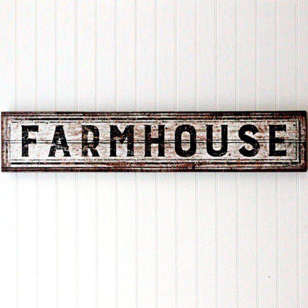 Aged Farmhouse Box Sign | Antique Farmhouse