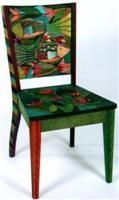 Helen Heins Peterson, Modern Folk Art, Whimsical Primitives, Painted Furniture  Woodworks