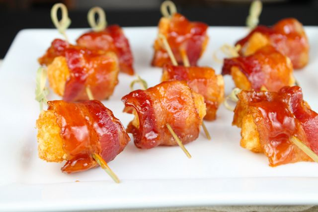 BBQ Bacon Wrapped Tater Tot Recipe