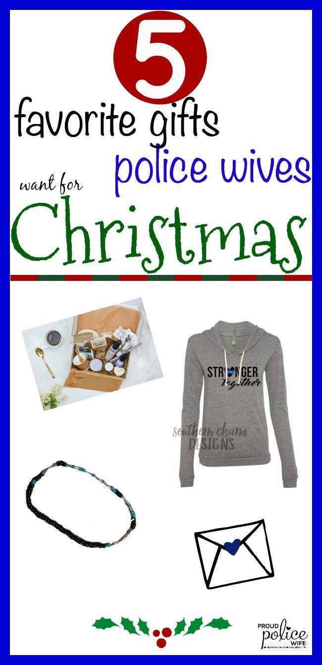 Police wives voted and these are their top gifts for the year! From clothing to jewelry to help with police wife life- you can't go wrong with any of these!  #christmas #leowife #leow #policewife