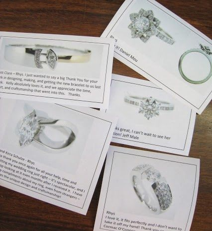 Playing postman to the jewellers and passing on your lovely comments and thanks!