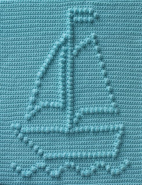 Ravelry: Sailboat Baby Blanket pattern by Marilyn Sehn