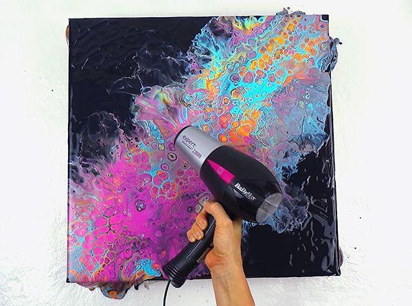 Acrylic Pouring Technik erklärt: AirSwipe