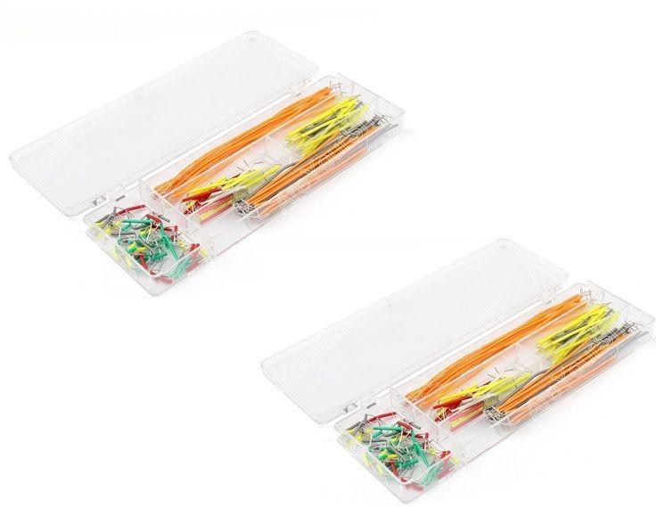 2x140Pcs U Shape Solderless Breadboard Jumper Cablewire Kit For Arduino Shield   #UnbrandedGeneric