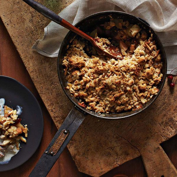 RECIPE: Pear + Apple + Ginger Crumble with Cinnamon Ice Cream from Jewels of New York